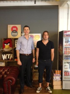 Myself and Dan from Firebox.com at their HQ in London
